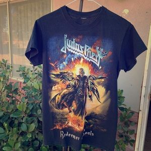 8eb108a13320fa Tops - Judas Priest redeemer of souls concert tour Tshirt